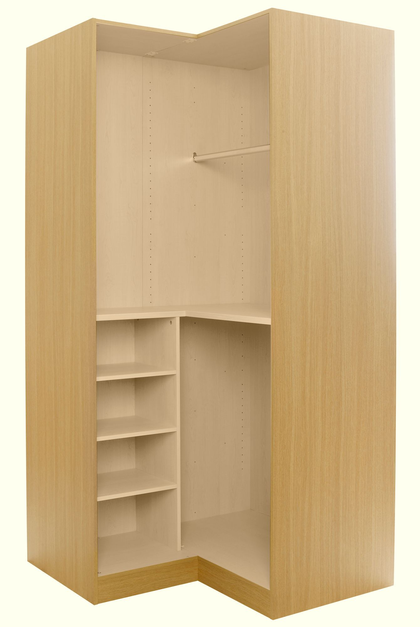 Oak effect corner wardrobe carcass h 2112mm w 1060mm - Armadio piccolo ikea ...