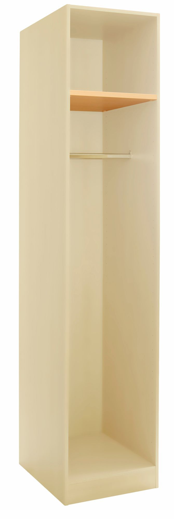 Cream single wardrobe carcass h 2112mm w 450mm d 590mm for Cream kitchen carcasses