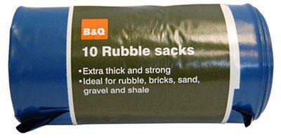7 x Heavy Duty Durable Blue Rubble Sacks Bags Sacks Builders Gravel Brick Soil