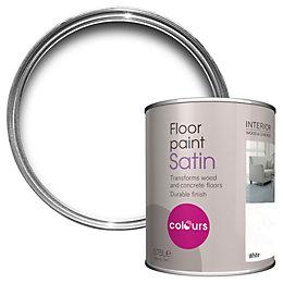 Colours White Satin Floor Paint0.75L
