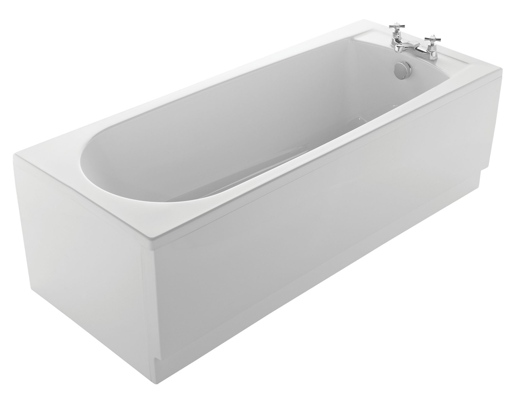 Plumbsure Acrylic Rectangular Straight Bath (L)1700mm (W)700mm ...