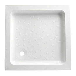 B&Q High wall Square Shower tray (L)760mm (W)760mm