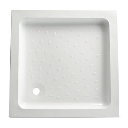 B&Q High Wall Square Shower Tray (L)800mm (W)800mm