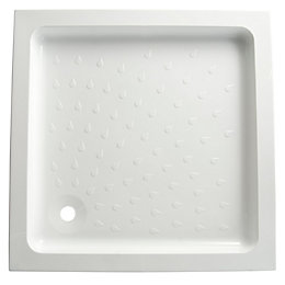B&Q High Wall Square Shower Tray (L)900mm (W)900mm
