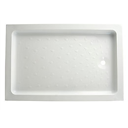 B&Q High Wall Rectangular Shower Tray (L)1200mm (W)800mm