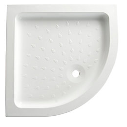 B&Q High Wall Quadrant Shower Tray (L)800mm (W)800mm
