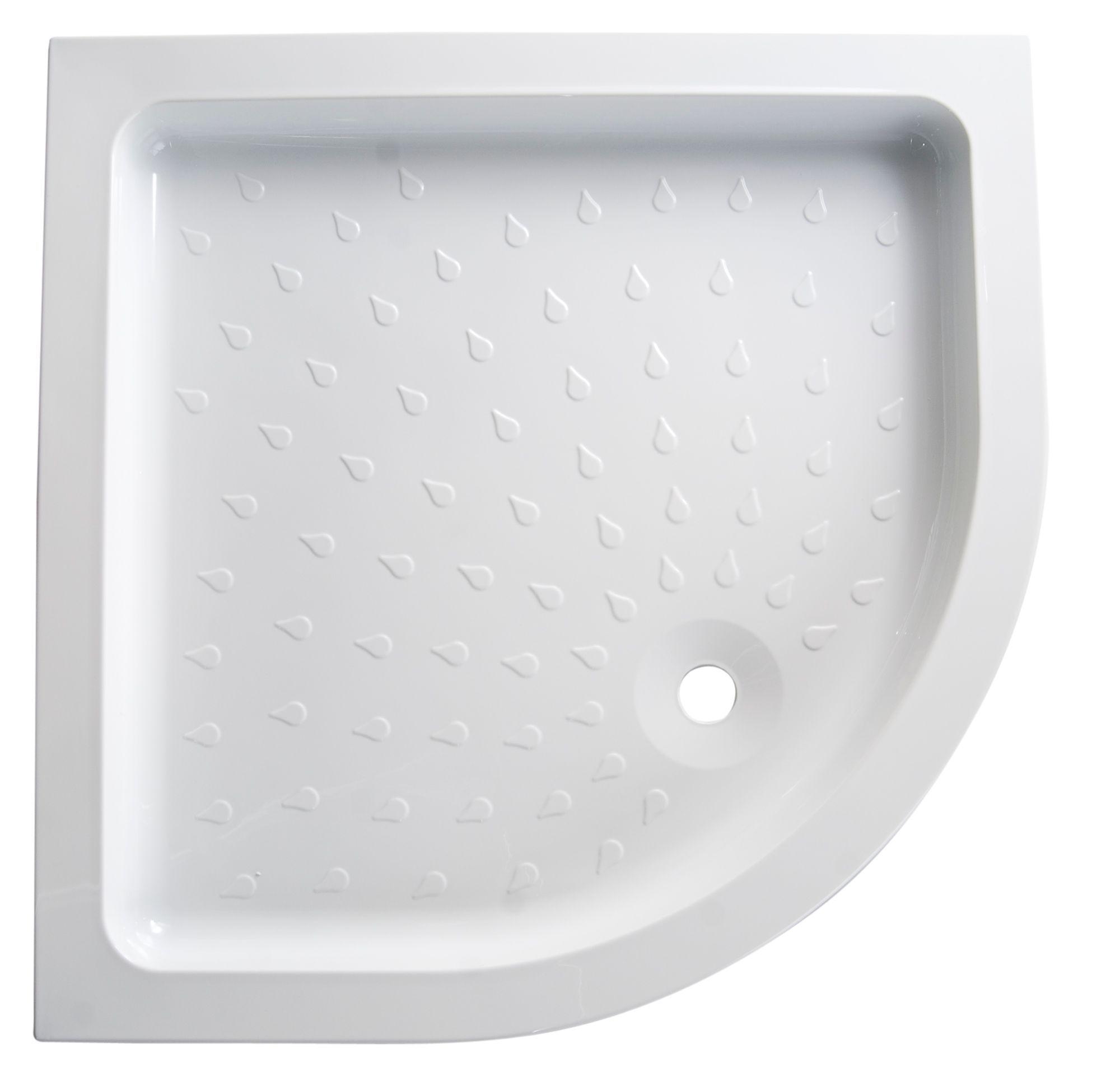 B Amp Q High Wall Quadrant Shower Tray L 900mm W 900mm D