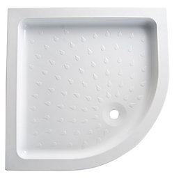 B&Q High Wall Quadrant Shower Tray (L)900mm (W)900mm