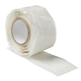 B&Q White Self-Fusing Tape (L)3M (W)25.4mm