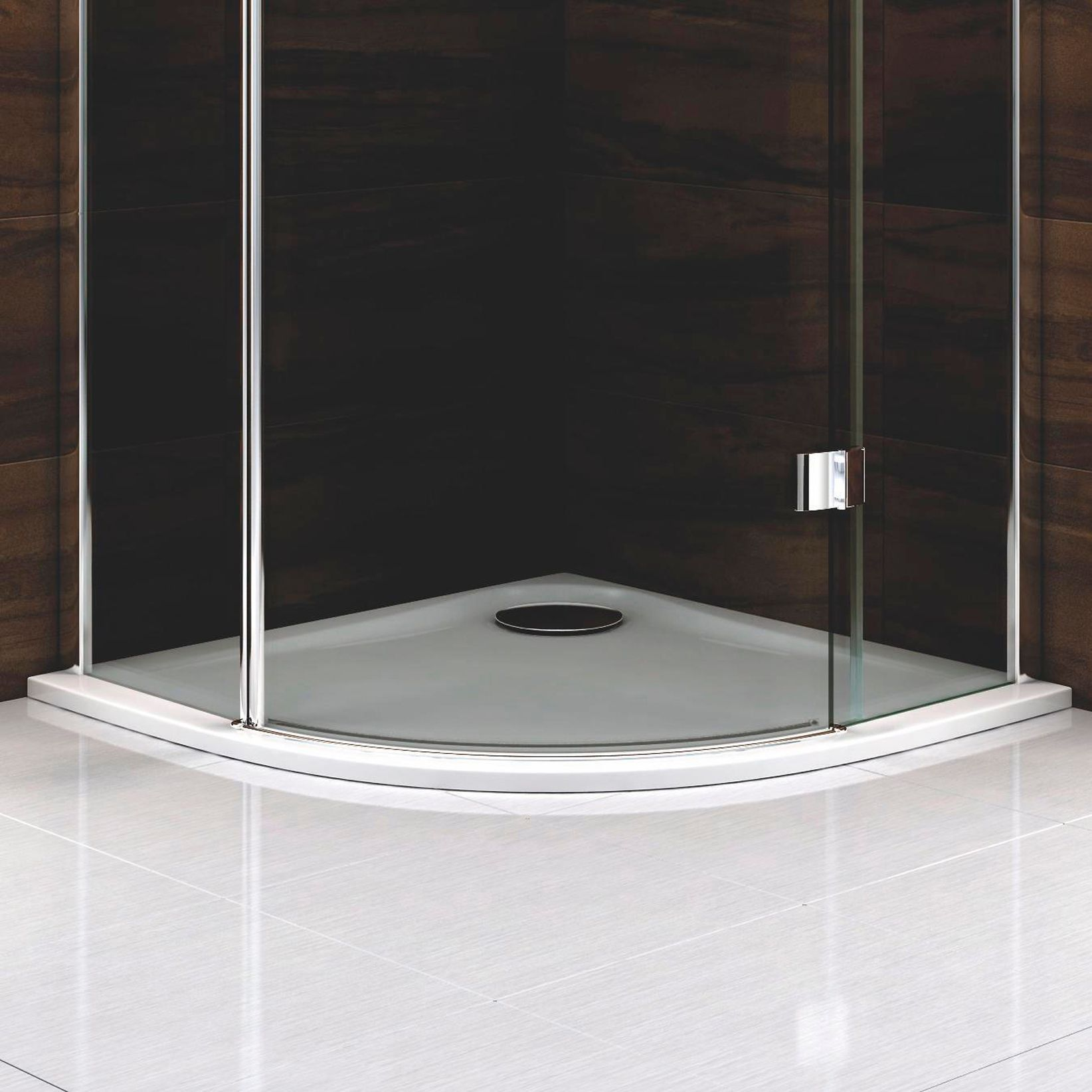 Cooke & Lewis Ultra Low Profile Quadrant Shower Tray (L)800mm (W ...