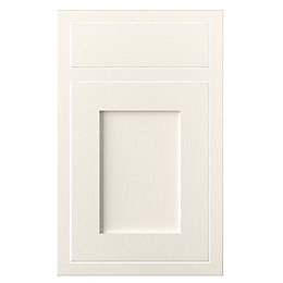 Cooke & Lewis Carisbrooke Ivory Framed Drawerline Door
