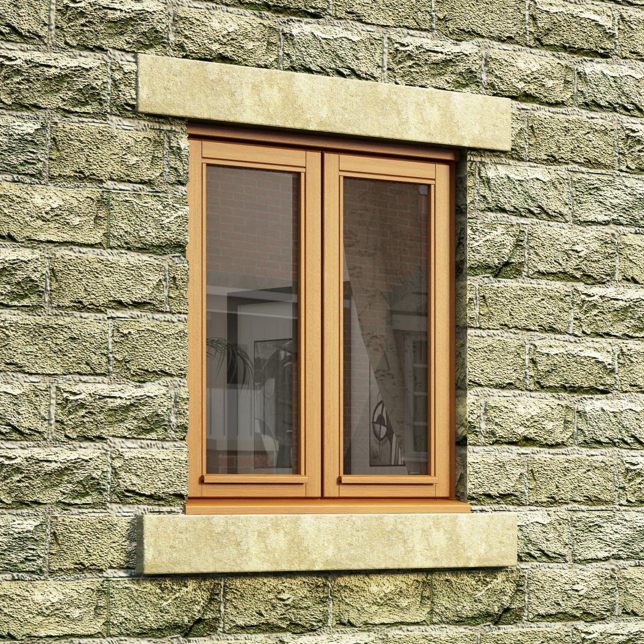 Double Glazed Windows Diy : Double glazed oak side hung casement window h