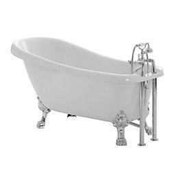 Cooke & Lewis Duchess Acrylic Keyhole Freestanding Bath