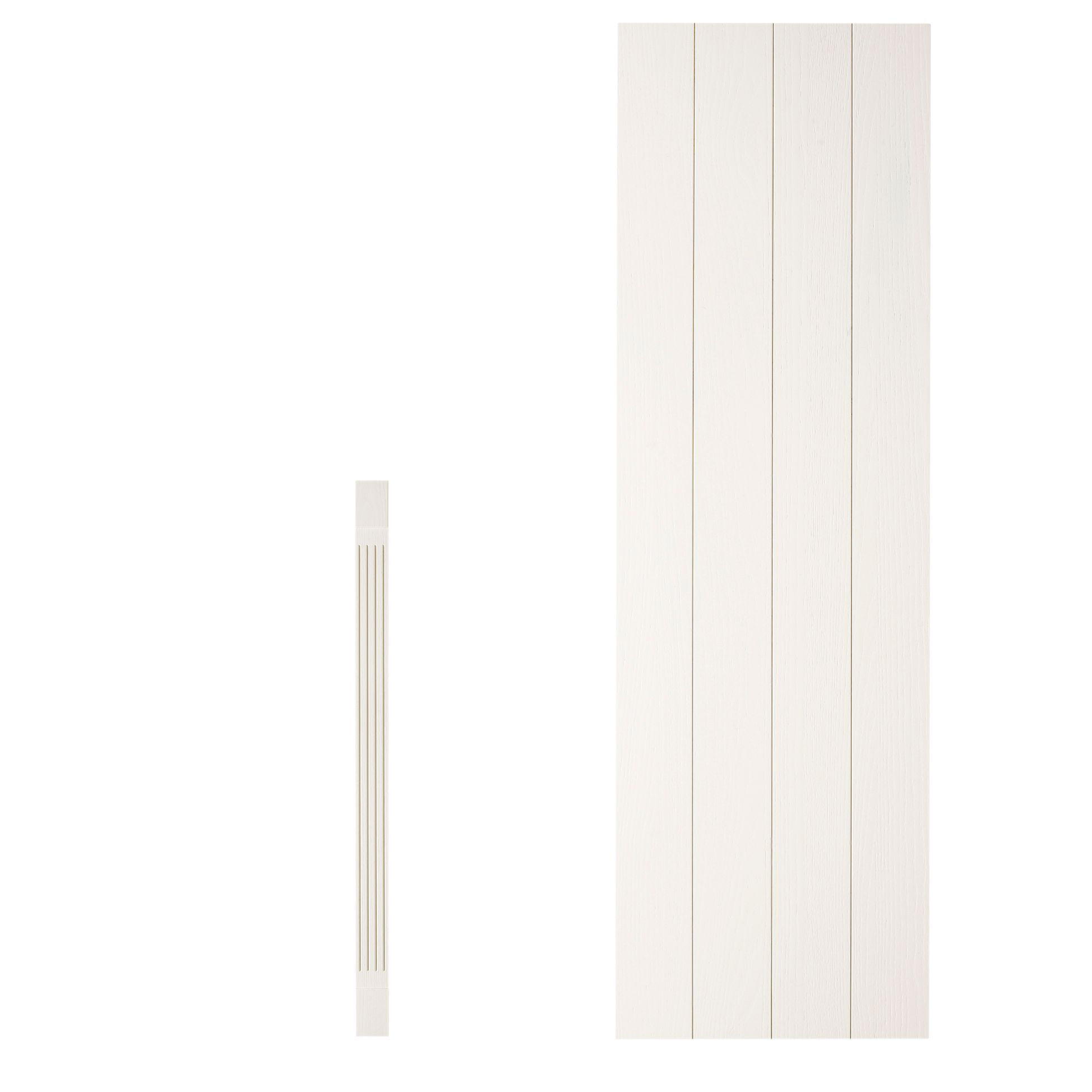 Picture Of Car >> Cooke & Lewis Carisbrooke Square dresser pilaster kit (H)1342mm (W)115mm (D)355mm | Departments ...