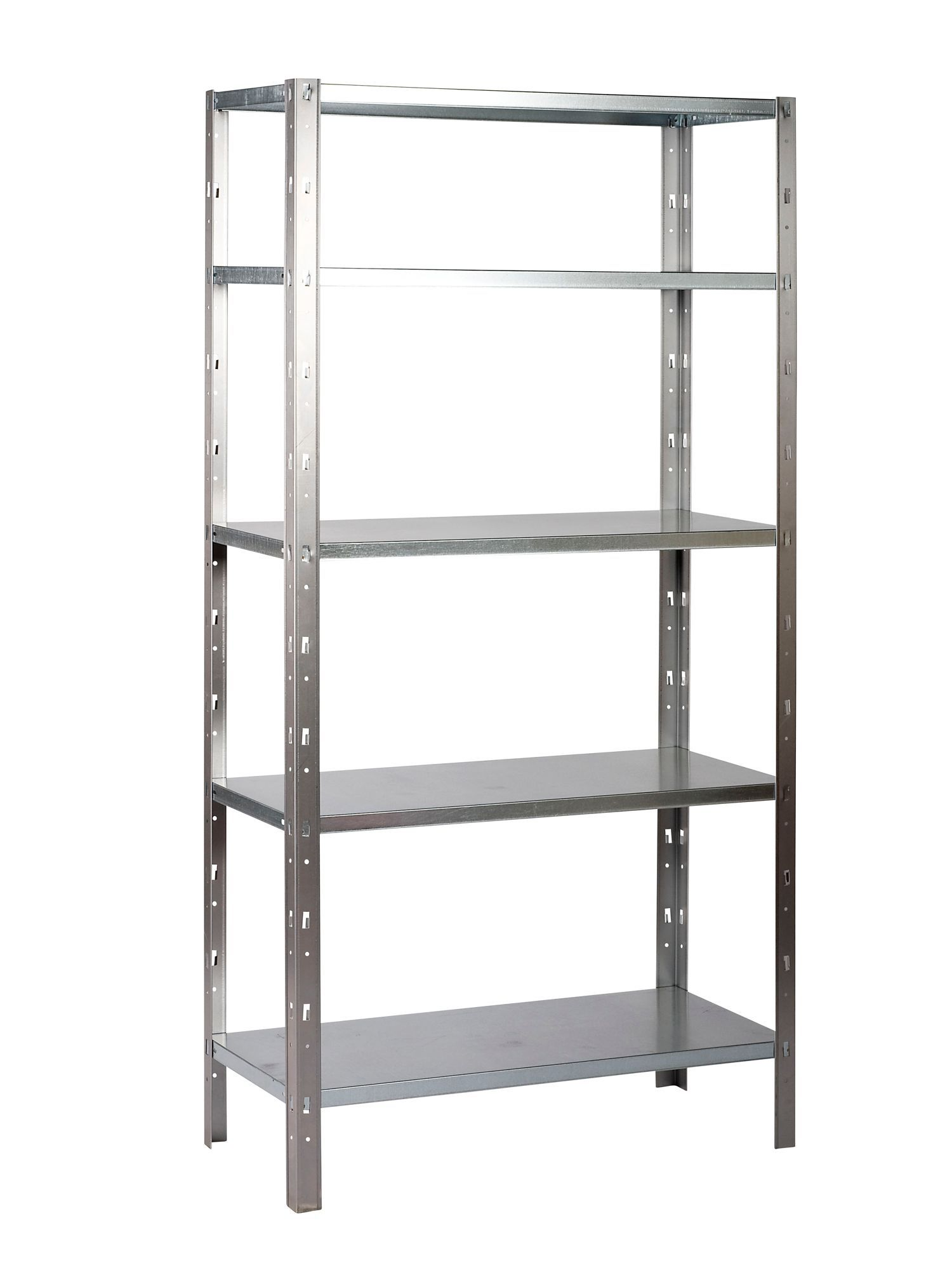B Q Select 5 Shelf Metal Timber Shelving Unit Departments Diy At