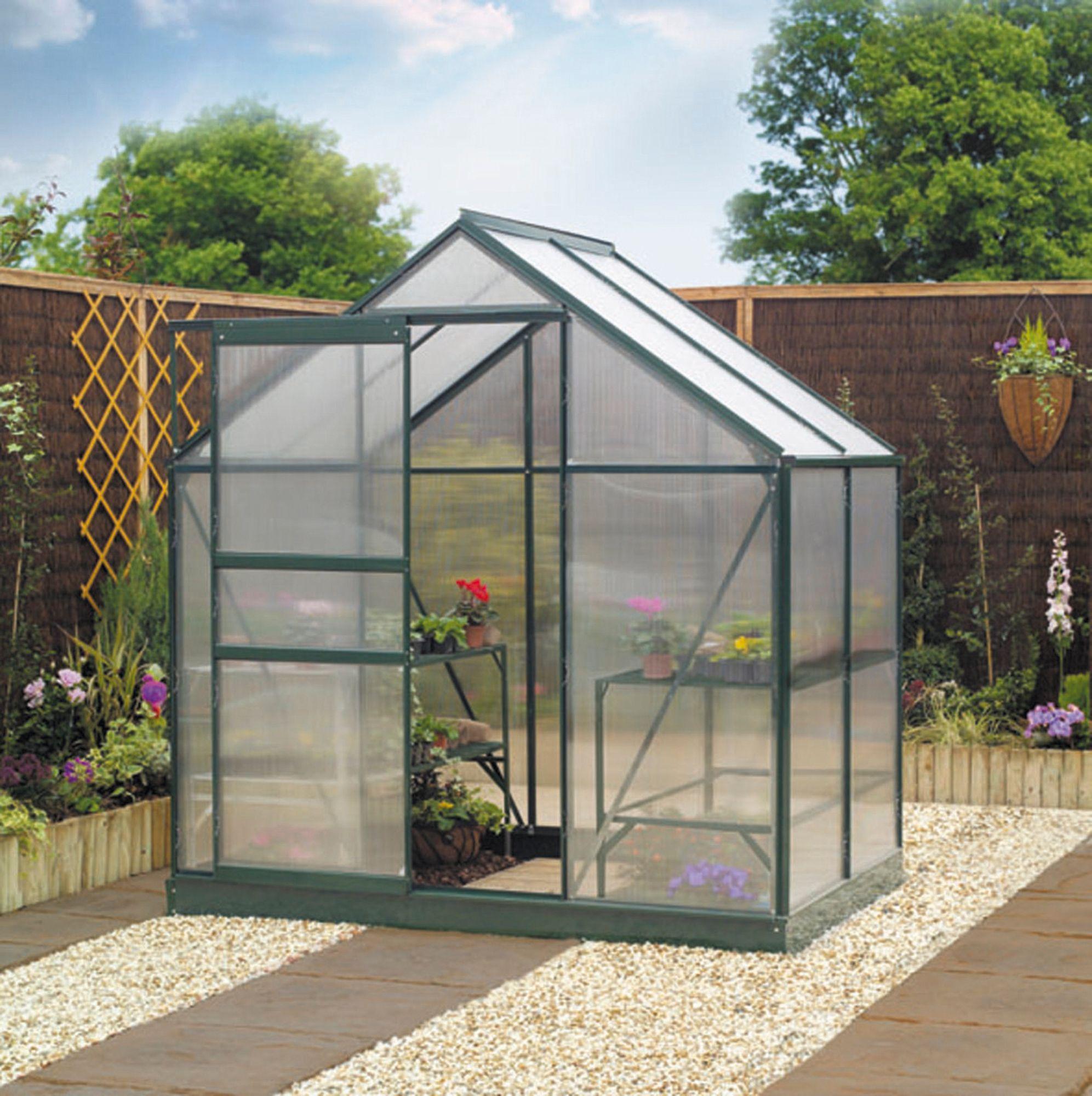 Window Greenhouse Insert Kitchen Window Greenhouses: B&Q Metal Greenhouse Frame & Base 6X4