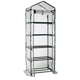 B&Q Plastic 5 Tier Mini Greenhouse