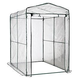 B&Q Plastic Walk-In Greenhouse