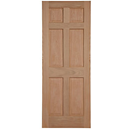 6 Panel Oak veneer Internal Fire Door, (H)1981mm