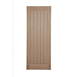 Cottage Panel Oak Veneer Unglazed Internal Fire Door,