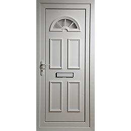 Carolina White PVCu Glazed External Front Door &