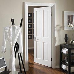 4 Panel Primed Smooth Unglazed Internal Standard Door,