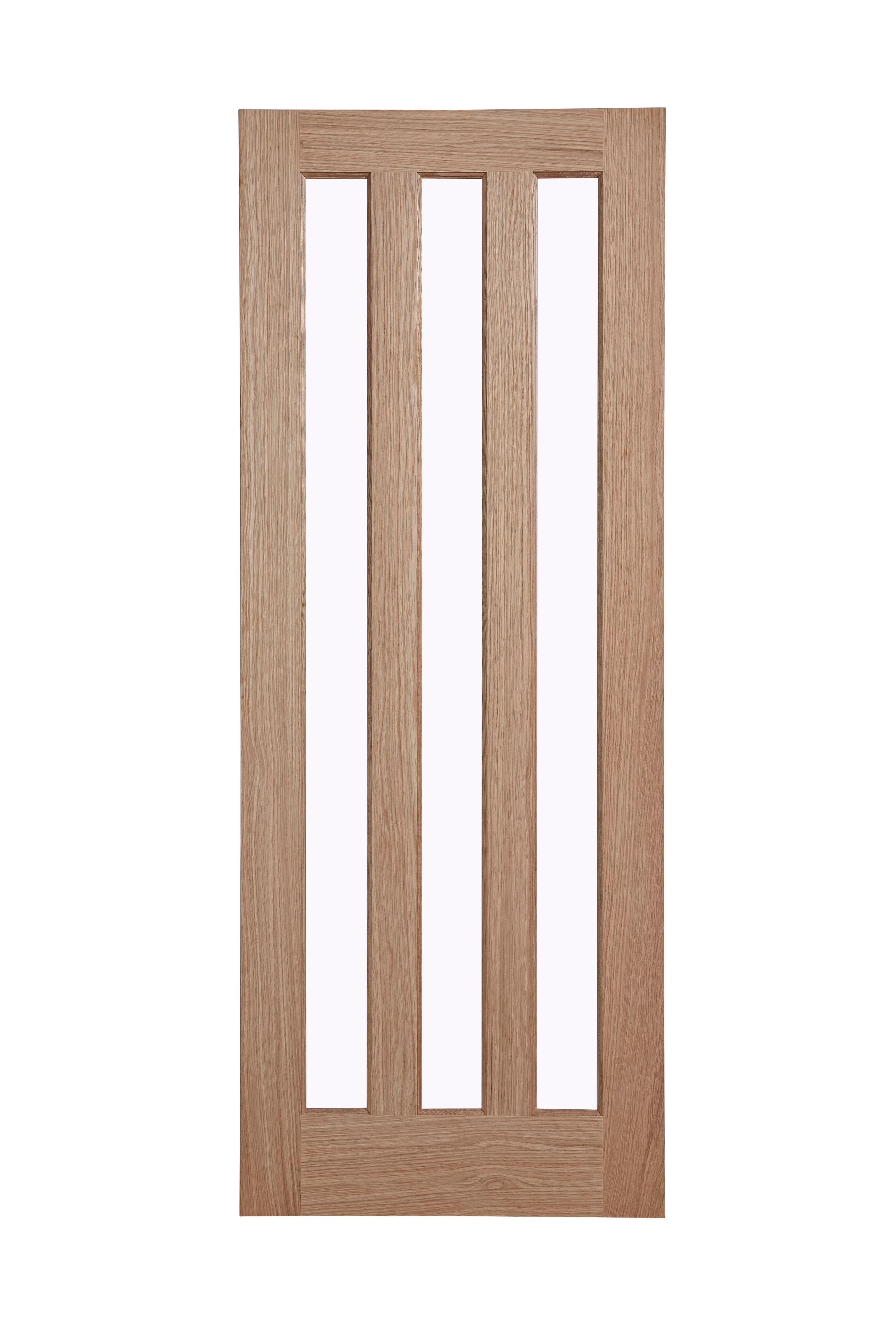 Vertical 3 Panel Oak Veneer Internal Standard Door H 1981mm W 762mm Departments Diy At B Q