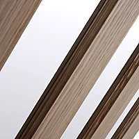 Vertical 3 panel Oak veneer Internal Door, (H)1981mm (W)686mm