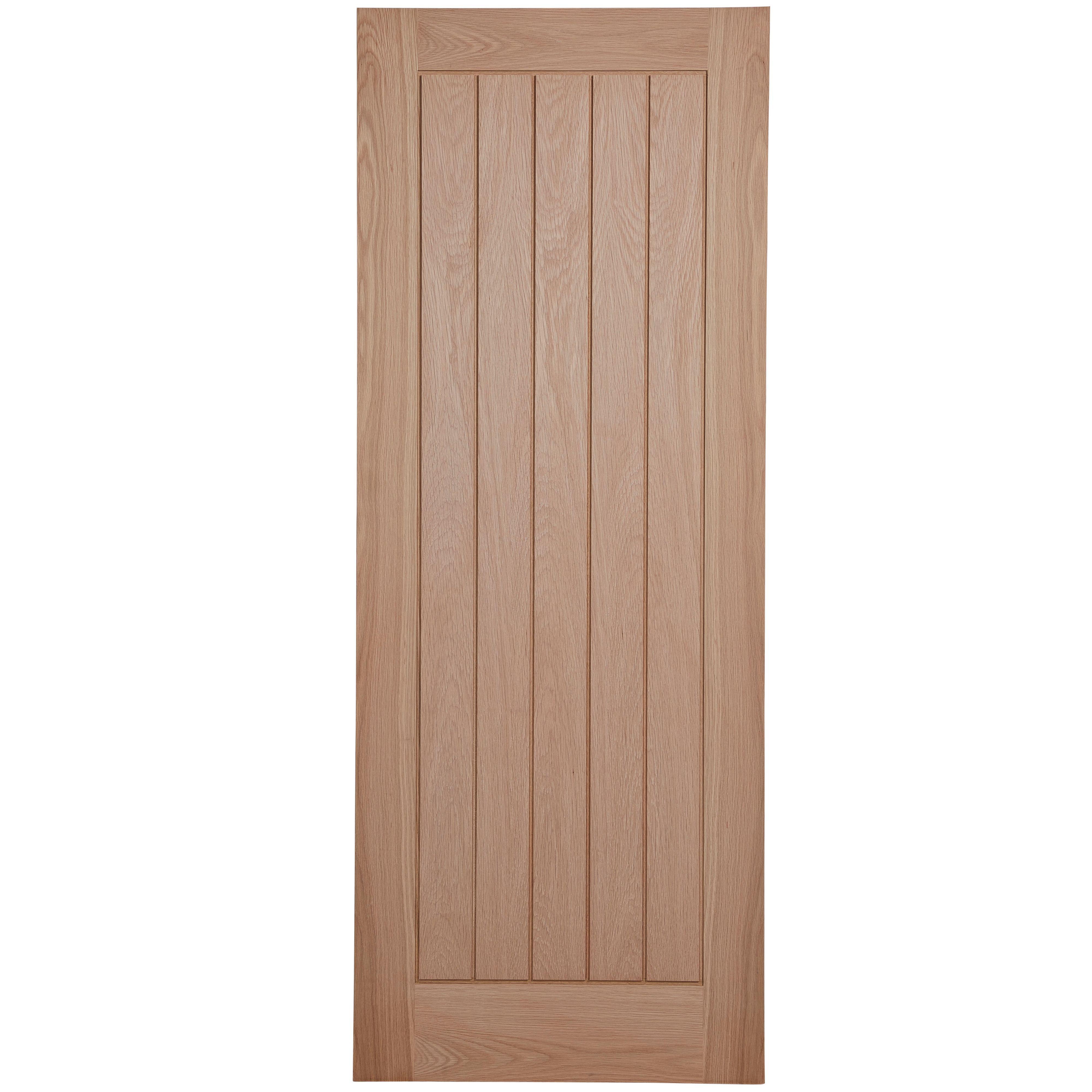 Cottage panel oak veneer unglazed internal standard door for Wood veneer garage doors