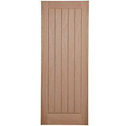 Cottage Panel Oak Veneer Unglazed Internal Standard Door,