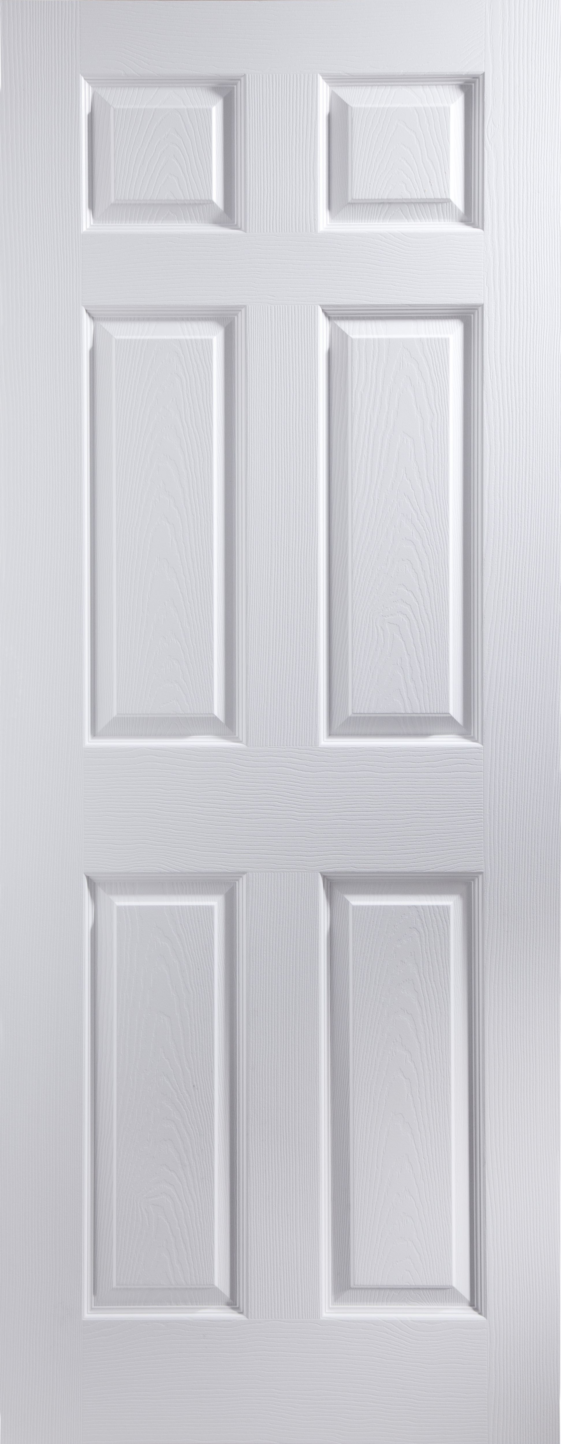the latest 3c961 29cee 6 Panel Primed White Woodgrain Effect Internal Door, (H)2040mm (W)926mm |  Departments | DIY at B&Q