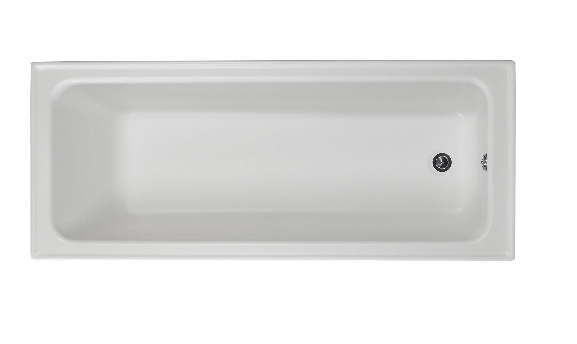 Shaftesbury Acrylic Straight Bath L1700mm W700mm