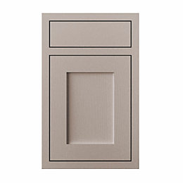 Cooke & Lewis Carisbrooke Taupe Framed Drawerline Door
