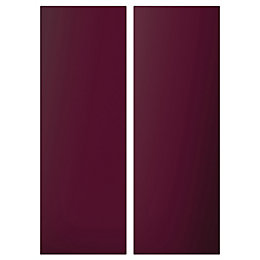 Cooke & Lewis Raffello High Gloss Aubergine Corner