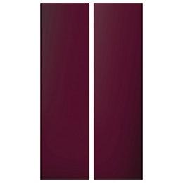 Cooke & Lewis Raffello High Gloss Aubergine Tall