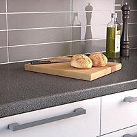 34mm Lava Grey Matt Round edge Breakfast bar (L)1.8m (D)970mm