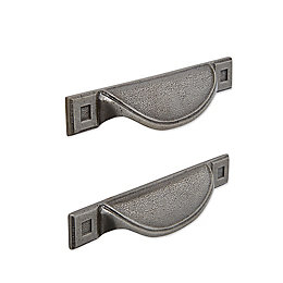 IT Kitchens Pewter Effect Cup Cabinet Handle, Pack