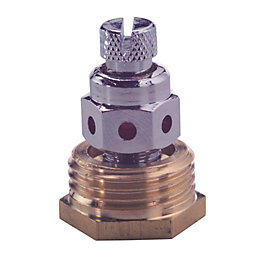 Plumbsure Brass Air Vent (Dia)12.7mm