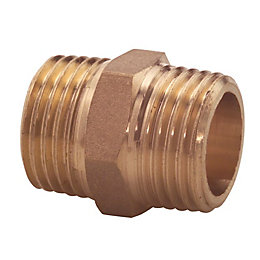 Plumbsure Brass Hex nipple (Dia)19mm