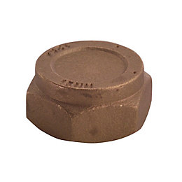 Plumbsure Brass Blanking Cap Nut (Dia)15mm