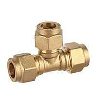 Plumbsure Compression Equal tee (Dia)10mm