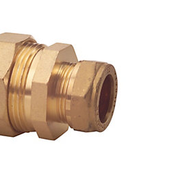 Plumbsure Compression Pipe Converter (Dia)15mm