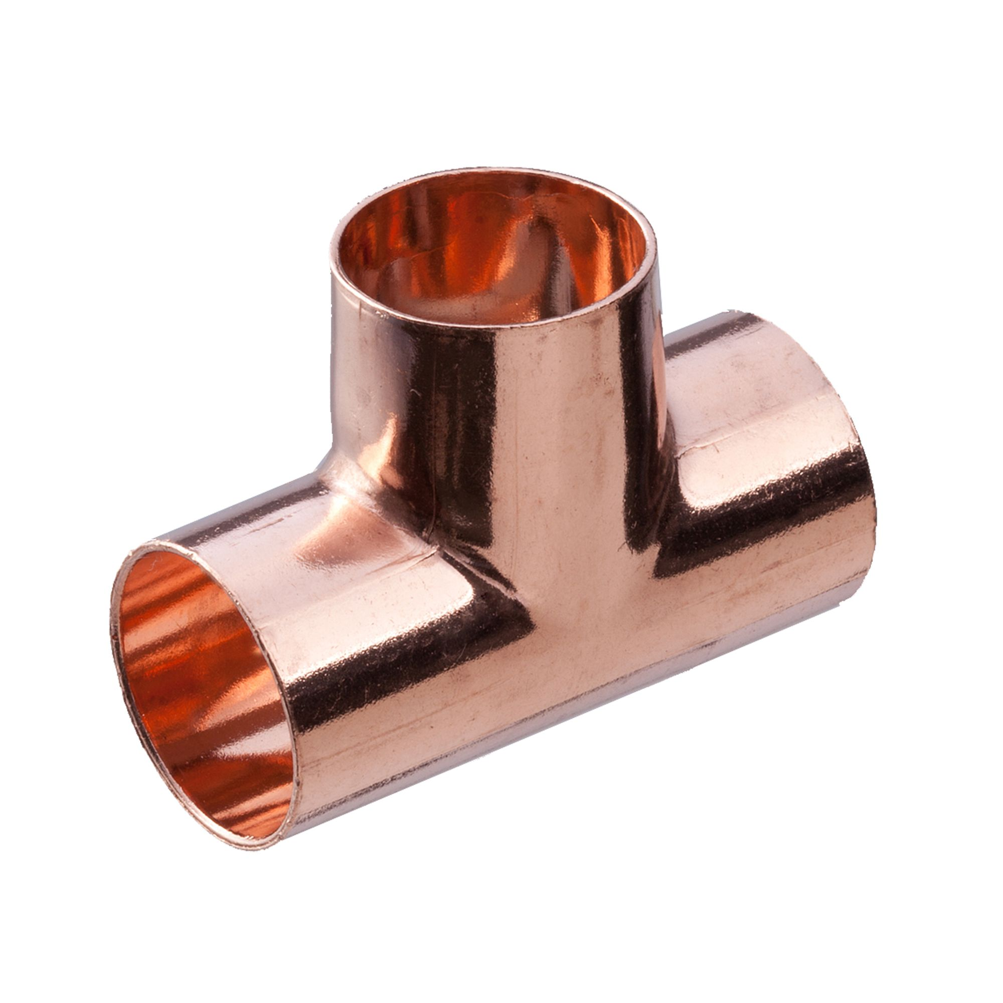 NEW 2 x END FEED copper plumbing pipe 15mm TEE