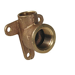 Plumbsure Compression Wall Plate Elbow (Dia)15mm