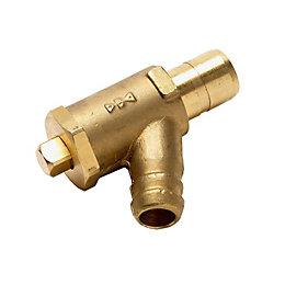 Push Fit Drain Tap (Dia)15mm