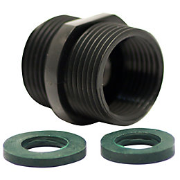 "Plumbsure Plastic Bush (Thread)3/4"", Set of 3"