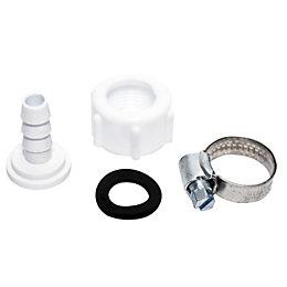 Plumbsure Plastic Threaded Hose Adaptor Straight Connector, Set