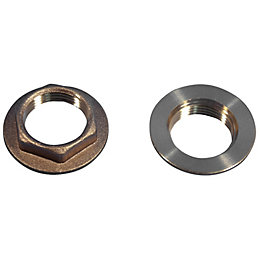 "Plumbsure Brass Flanged Backnut (Thread)3/4"", Pack of 2"