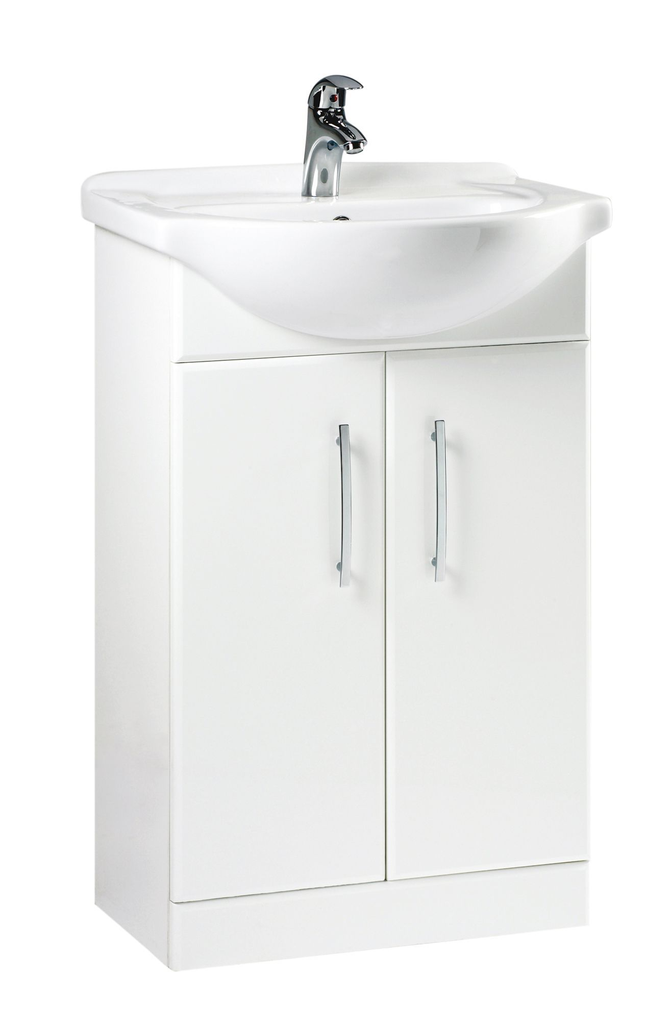 BampQ White Vanity Unit Amp Basin