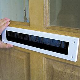 B&Q PVC & Brush Letterbox Draught Excluder, (L)279mm